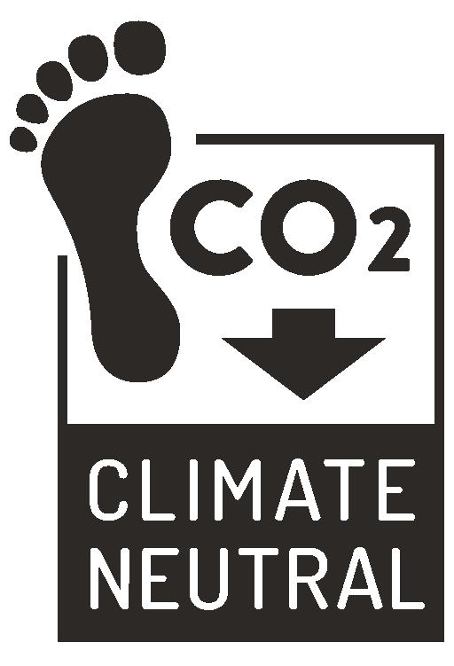 Carbon neutral footprint t-shirt print icon