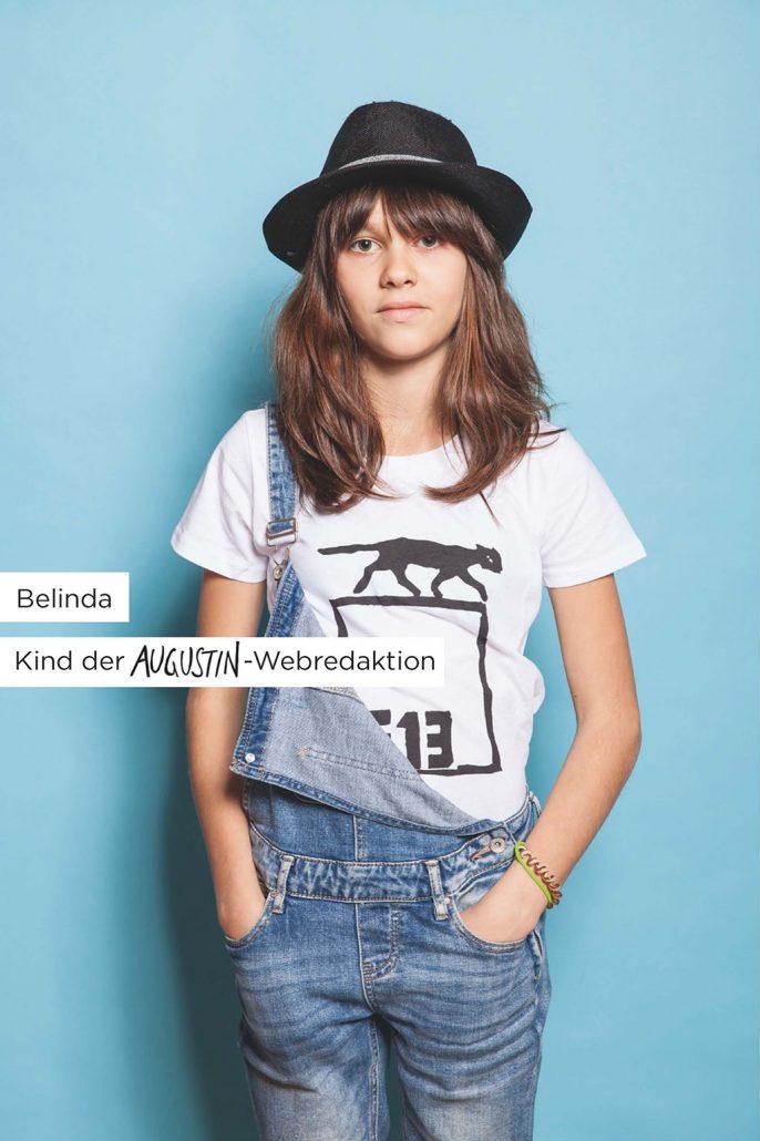 Augustin F13 T-Shirt Werbemotiv Belinda