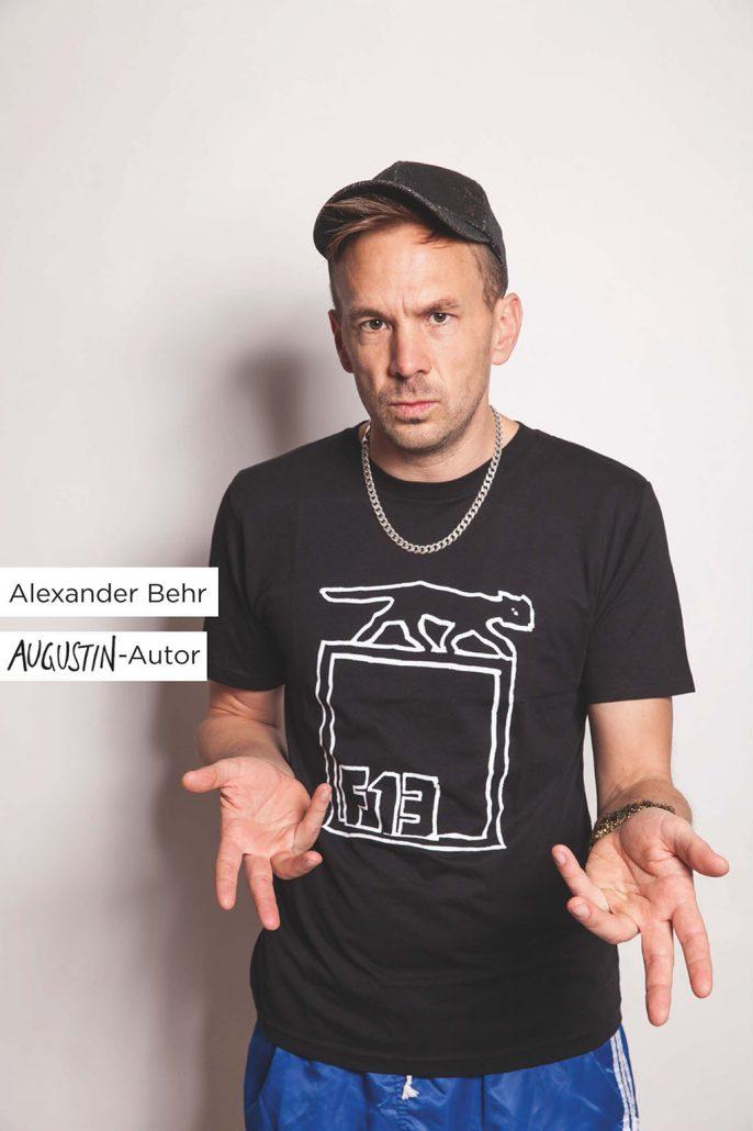 Augustin F13 T-Shirt Werbemotiv Alexander