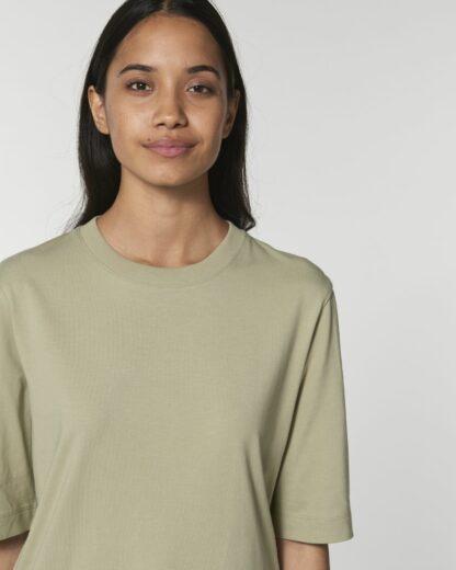 Guter Stoff Damen boxy heavy T-Shirt Fringer Sage bio fair vegan