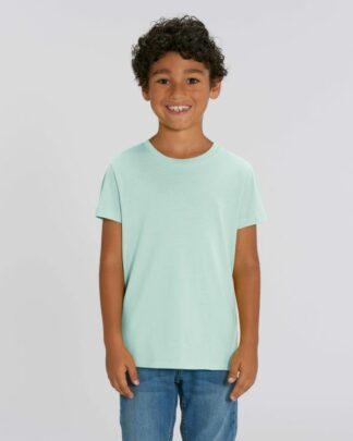 Kinder T-Shirt Bio Fair Mini Creator Caribbean Blue