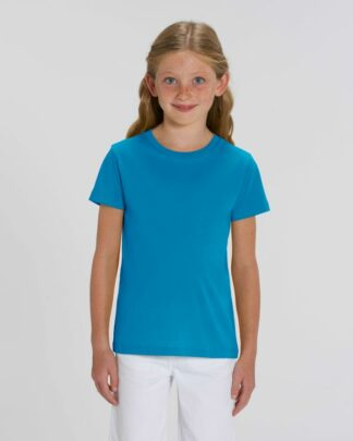 Kinder T-Shirt Bio Fair Mini Creator Azurblau