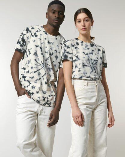 Unisex T-Shirt Creator Tie&Dye Natural Raw/Black